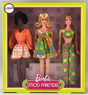 Barbie Mod Friends 3-piece 1968 reproduction dolls set