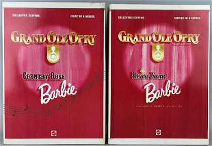 Group of 2 Barbie Grand Ole Opry fashion dolls