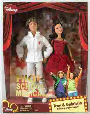 Disney High School Musical Troy and Gabriella dolls