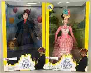 2 Barbie Signature Mary Poppins Returns Fashion Dolls
