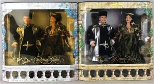Group of 2 Ken and Barbie as Romeo and Juliet dolls