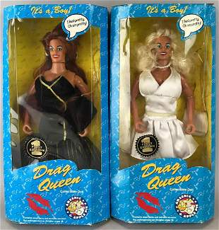 Group of 2 Arsenic and Apple Pie Drag Queen dolls