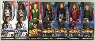 Group of 7 Hasbro Marvel Titan Hero Series action