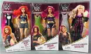 Group of 3 WWE Superstars Fashion Dolls