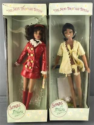 2 Mod British Birds dolls in original packaging