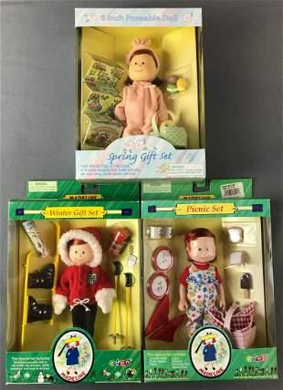 Group of 3 Madeline Doll Sets