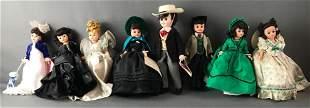 Group of 8 Madame Alexander dolls