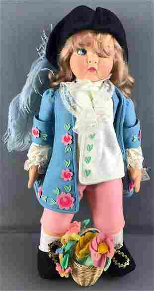 1980s Signed Italian Lenci Casanova Doll