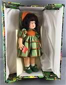 1970s Italian Lenci Cloclo Doll in Original Box