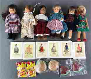 Group of 6 Miniature American Girl Dolls