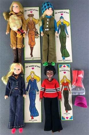 Group of 4 Hasbro The World of Love Fashion Dolls