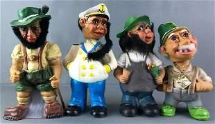 Group of 4 Heico Troll Bobble Heads