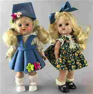 Group of 2 Vogue Dolls Ginny-Blonde hair