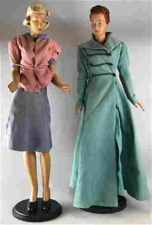 Group of 2 female statuettes