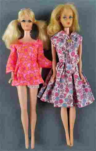 2 vintage talking Barbie dolls