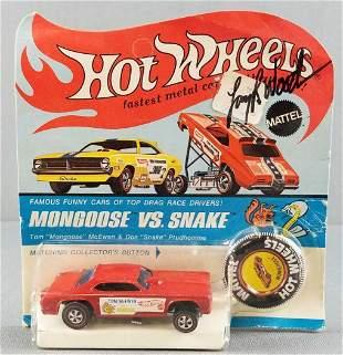 Hot Wheels Redline Mongoose signed by Larry Wood