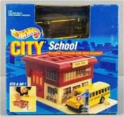 Hot Wheels City Sto and Go School play set