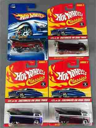 Group of 4 Mattel Hot Wheels Die Cast Vehicles