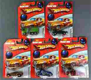 Group of 5 Hot Wheels 2007 Holiday Rods