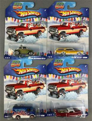 Group of 4 Hot Wheels 2009 Holiday Rods