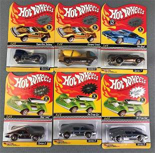 Group of 6 Hot Wheels Neo Classics Series