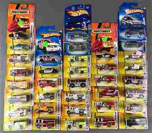 Group of 36 Matchbox and Hot Wheels Die Cast Vehicles