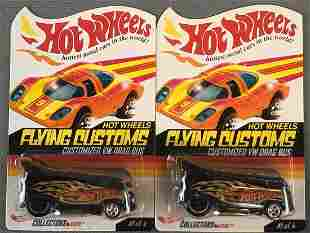 Group of 2 Hot Wheels Flying Customs Customized VW Drag