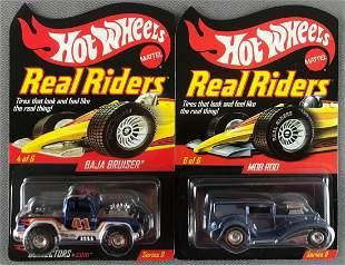Group of 2 Hot Wheels Real Riders die-cast vehicles