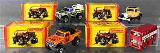 Group of 4 Matchbox die-cast vehicles