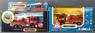 Group of 2 Matchbox die-cast Fire Engines