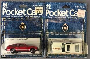 Group of 2 Tomy Pocket Cars die-cast vehicles