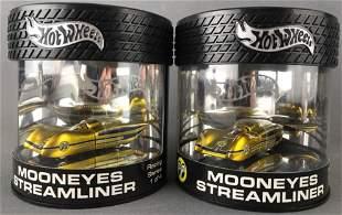 Group of 2 Hot Wheels Mooneyes Streamliner die-cast