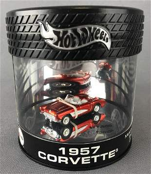 Hot Wheels Oil Can Series 1957 Corvette diecast vehicle