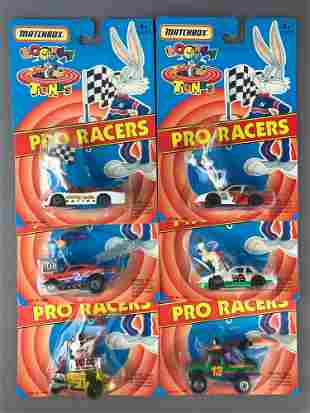 Group of 6 Matchbox Looney Tunes Pro Racers
