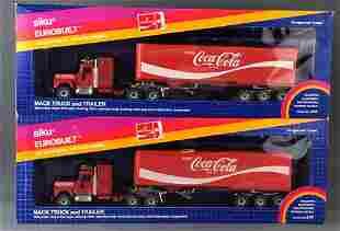 Group of 2 Siku No. 3117 Coca-Cola Mack Truck and
