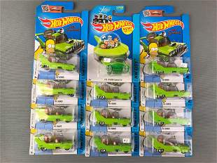 Group of 13 Hot Wheels Licensed Vehicles