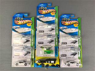 Group of 10 Licensed Hot Wheels Vehicles