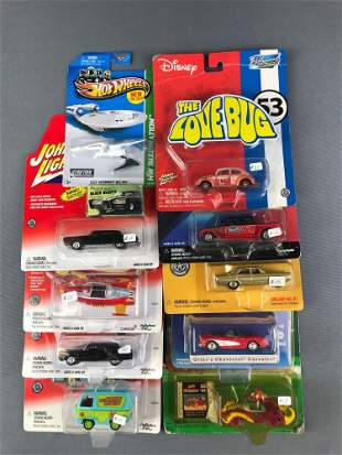 Group of 10 Hot Wheels Licensed Vehicles