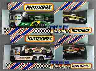 Group of 2 Team Matchbox die-cast vehicle sets
