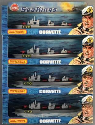 Group of 4 Matchbox Sea Kings No. K-302 Corvette