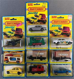 Group of 10 Matchbox Superfast die-cast vehicles