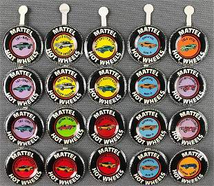 Group of 20 Hot Wheels Collector Buttons