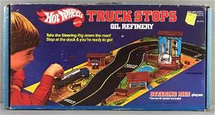 Hot Wheels Truck Stops Oil Refinery Steering Rig set