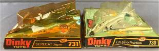 Group of 2 Dinky Toys die-cast aircraft