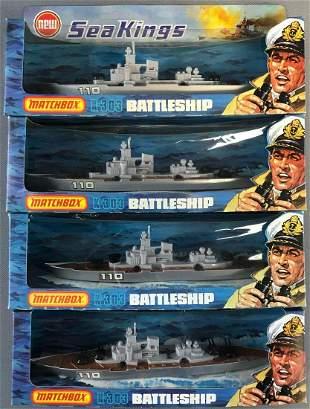 Group of 4 Matchbox Sea Kings No. K-103 Battleship