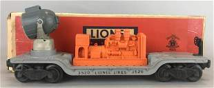 Lionel No. 3520 Lionel Lines Generator/Searchlight Car