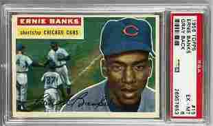 1956 Topps Baseball Ernie Banks Card PSA 6