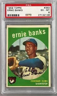 1959 Topps Baseball Ernie Banks Card PAS 6
