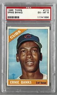 1966 Topps Baseball Ernie Banks Card PSA 6