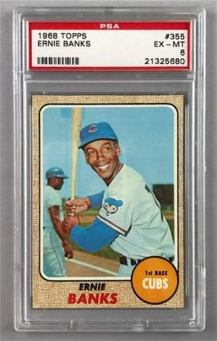 1968 Topps Baseball Ernie Banks Card PSA 6